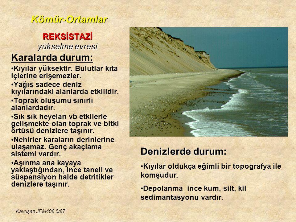 Kömür-Ortamlar DELTA TİPLERİ ve ÖZELLİKLERİ KÖMÜR İÇEREN BASENLER-1 Kavuşan JEM408 56/87