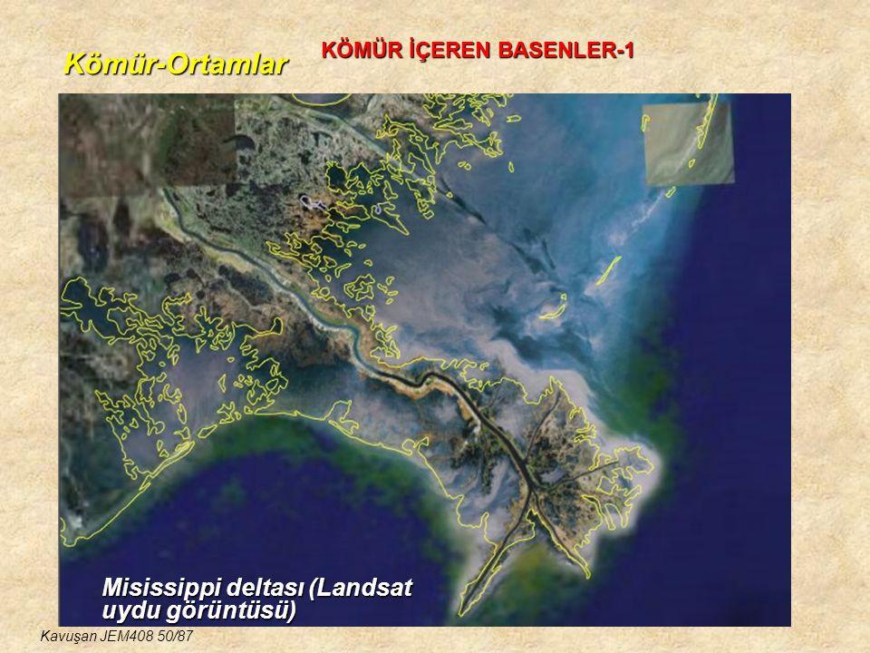 Kömür-Ortamlar KÖMÜR İÇEREN BASENLER-1 Misissippi deltası (Landsat uydu görüntüsü) Kavuşan JEM408 50/87