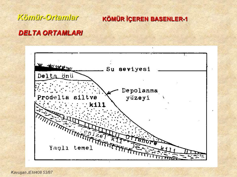 Kömür-Ortamlar DELTA ORTAMLARI KÖMÜR İÇEREN BASENLER-1 Kavuşan JEM408 53/87