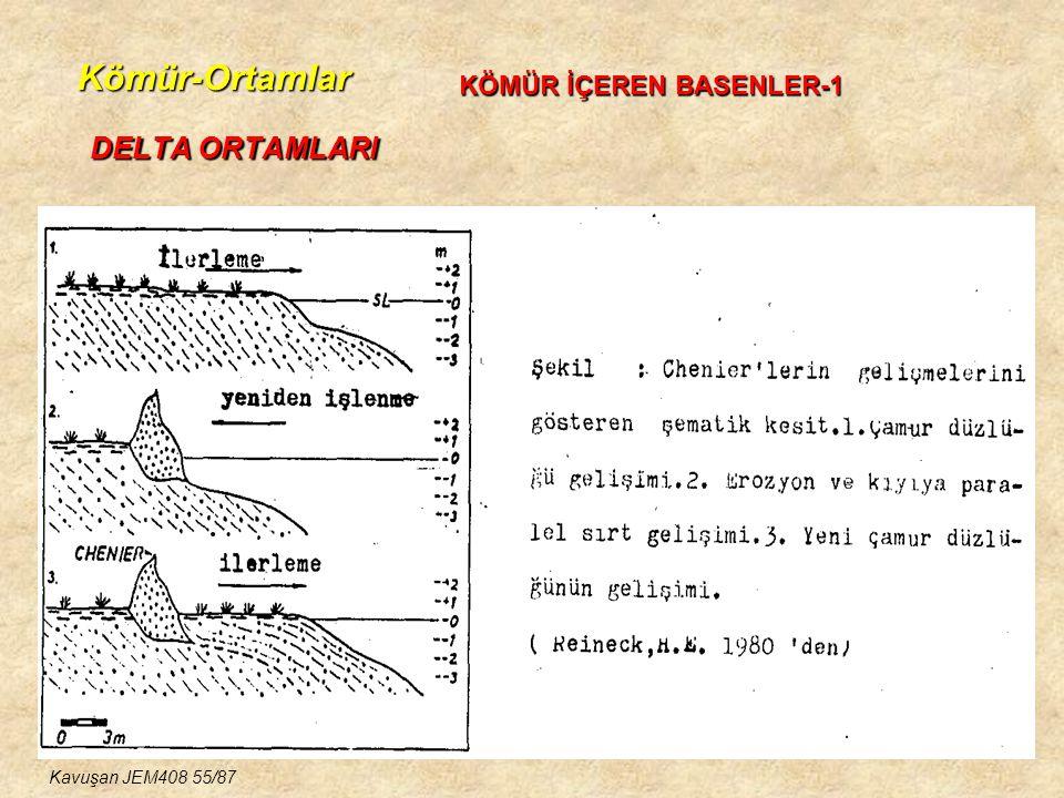 Kömür-Ortamlar DELTA ORTAMLARI KÖMÜR İÇEREN BASENLER-1 Kavuşan JEM408 55/87