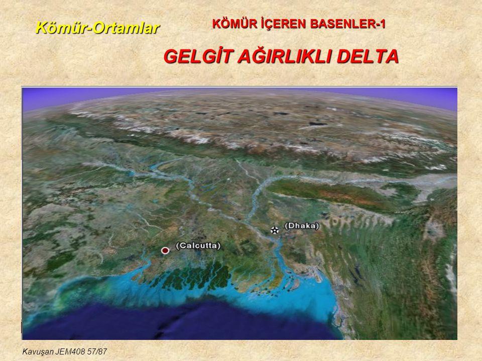 Kömür-Ortamlar GELGİT AĞIRLIKLI DELTA KÖMÜR İÇEREN BASENLER-1 Kavuşan JEM408 57/87