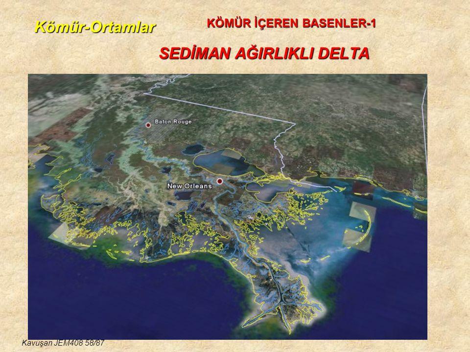 Kömür-Ortamlar SEDİMAN AĞIRLIKLI DELTA KÖMÜR İÇEREN BASENLER-1 Kavuşan JEM408 58/87