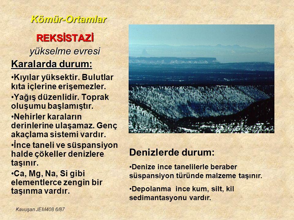 Kömür-Ortamlar BARİYER GERİSİ ORTAMLAR KÖMÜR İÇEREN BASENLER-1 Kavuşan JEM408 47/87