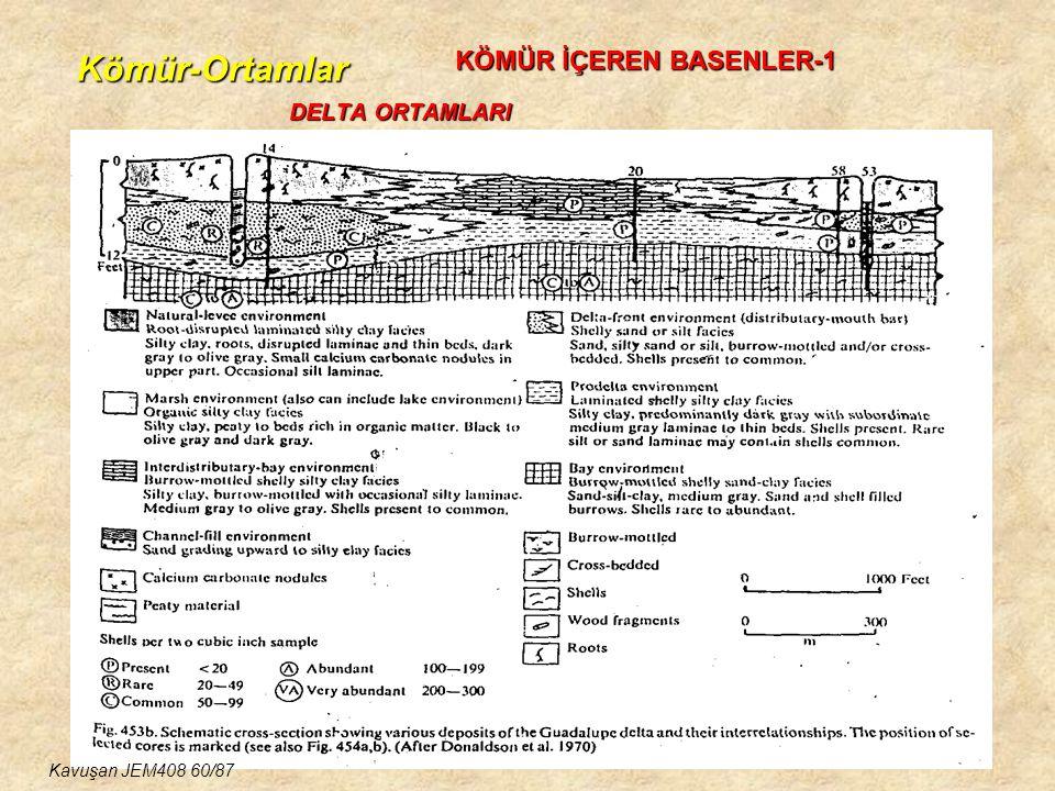 Kömür-Ortamlar DELTA ORTAMLARI KÖMÜR İÇEREN BASENLER-1 Kavuşan JEM408 60/87