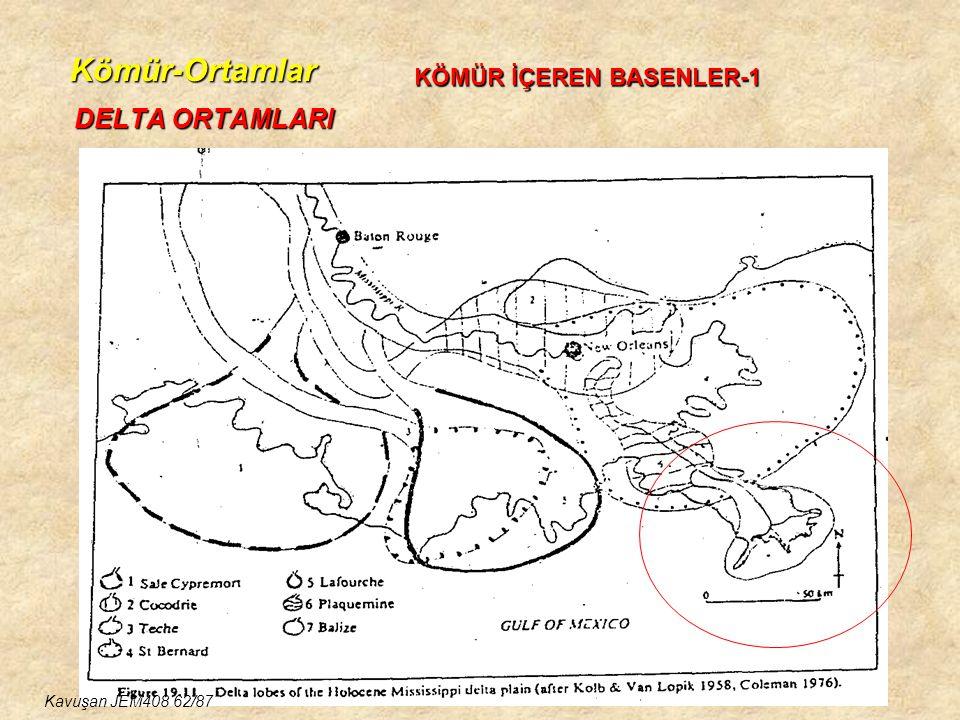 Kömür-Ortamlar DELTA ORTAMLARI KÖMÜR İÇEREN BASENLER-1 Kavuşan JEM408 62/87