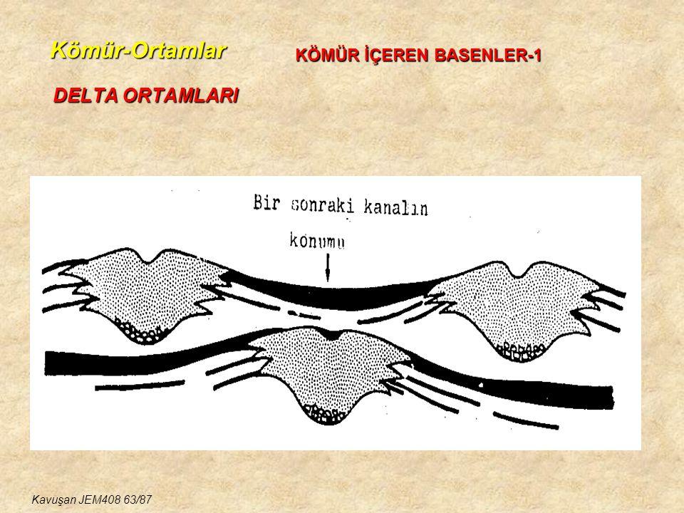Kömür-Ortamlar DELTA ORTAMLARI KÖMÜR İÇEREN BASENLER-1 Kavuşan JEM408 63/87
