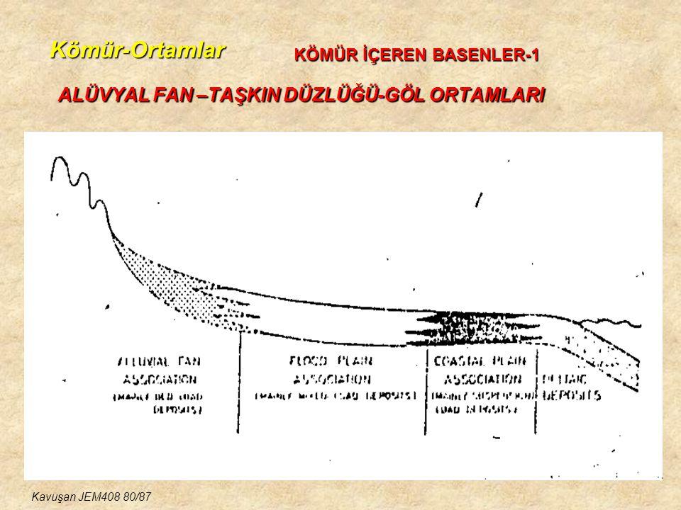 Kömür-Ortamlar ALÜVYAL FAN –TAŞKIN DÜZLÜĞÜ-GÖL ORTAMLARI KÖMÜR İÇEREN BASENLER-1 Kavuşan JEM408 80/87