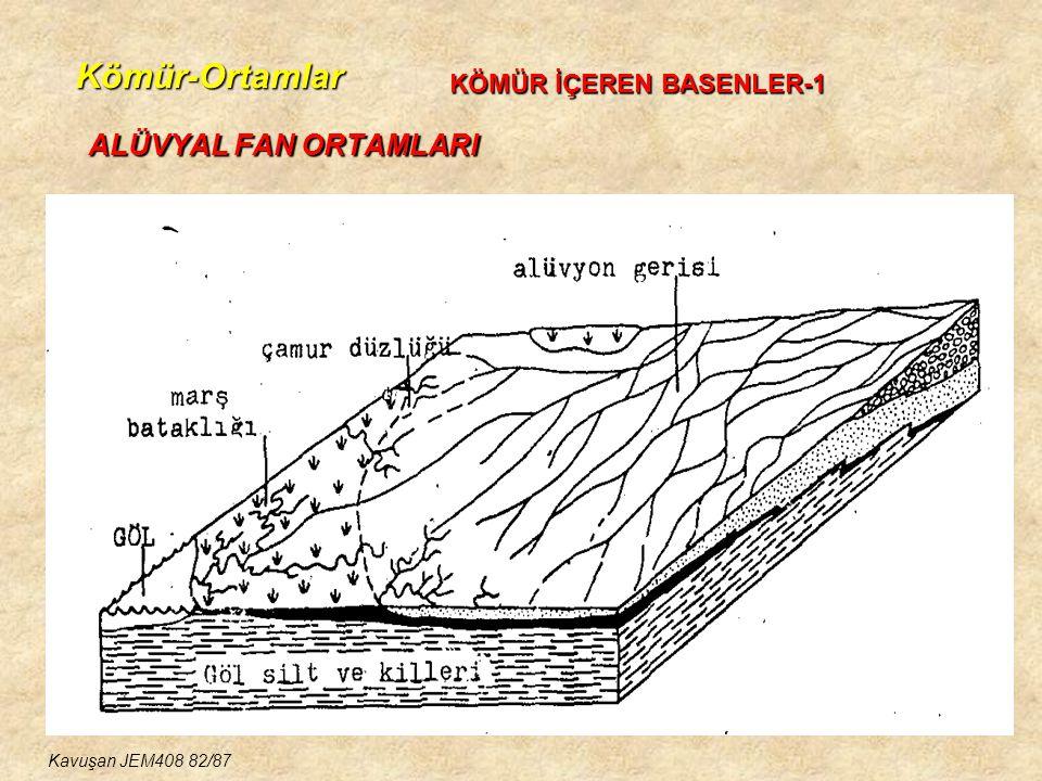 Kömür-Ortamlar ALÜVYAL FAN ORTAMLARI KÖMÜR İÇEREN BASENLER-1 Kavuşan JEM408 82/87