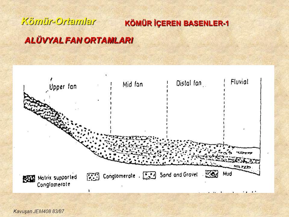Kömür-Ortamlar ALÜVYAL FAN ORTAMLARI KÖMÜR İÇEREN BASENLER-1 Kavuşan JEM408 83/87
