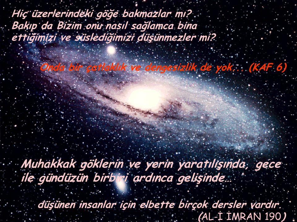 Mü'min; 57 Ama, insanların çoğu gerçeği bilmezler Gökleri ve yeri yaratmak, insanları yaratmaktan daha büyük bir iştir,