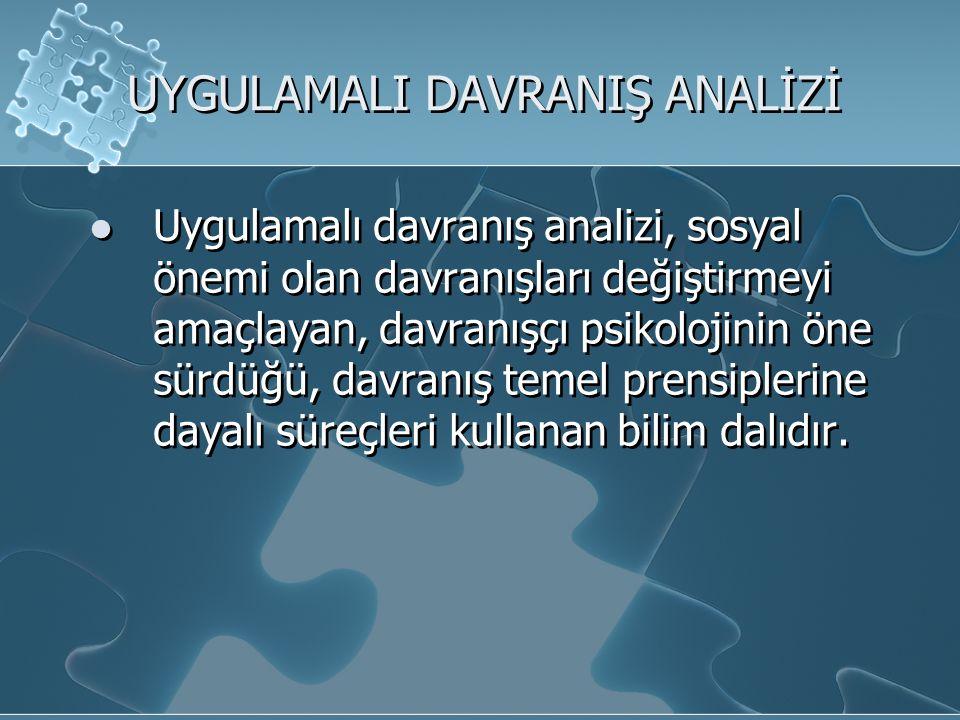 Uygulamalı davranış analizinde; 1.Hedef davranış 'güvenilir' biçimde tanımlanmalıdır.