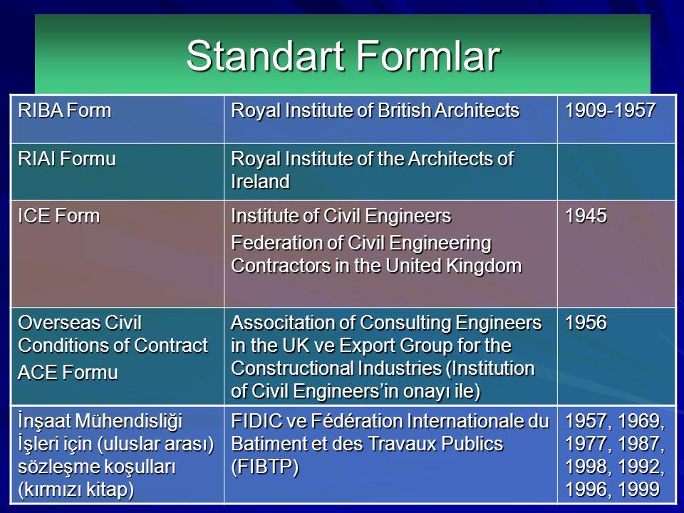 ICEACEFIDIC Standart Formlar