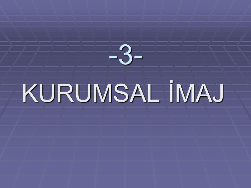 -3- KURUMSAL İMAJ