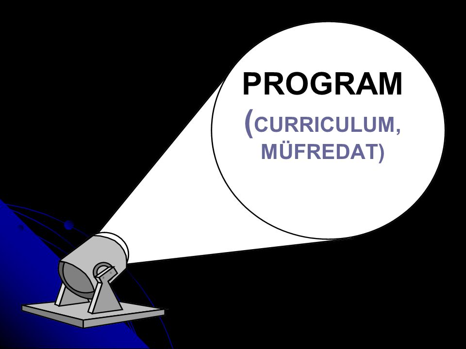PROGRAM ( CURRICULUM, MÜFREDAT)