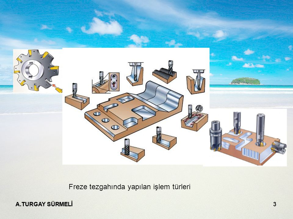 A.TURGAY SÜRMELİ 3 Freze tezgahında yapılan işlem türleri