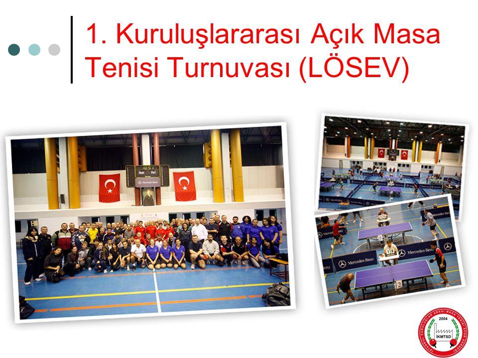 1. Kuruluşlararası Açık Masa Tenisi Turnuvası (LÖSEV)