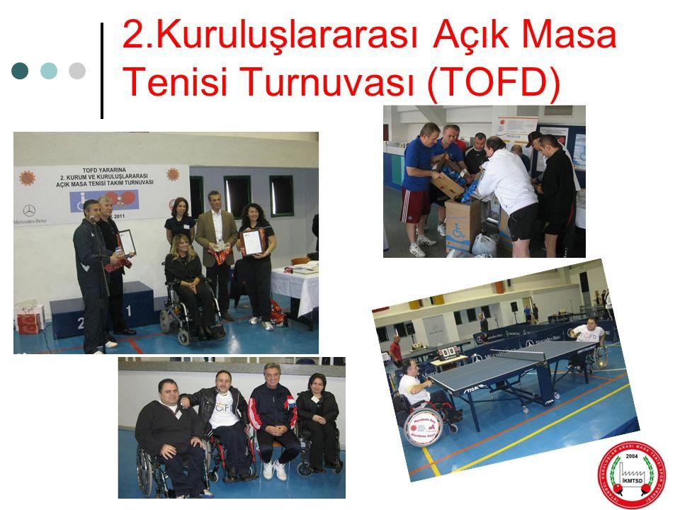 2.Kuruluşlararası Açık Masa Tenisi Turnuvası (TOFD)