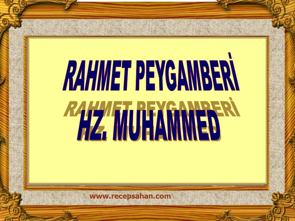 www.recepsahan.com 1