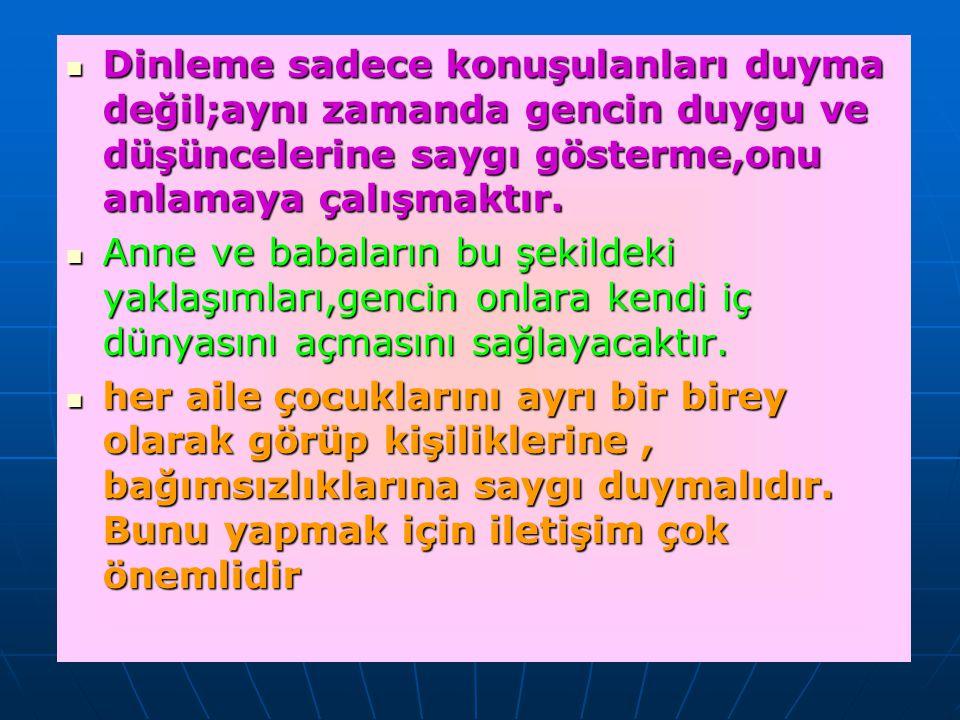 ÖĞRENME KONUSUNDA AİLELERE ÖNERİLER 1.