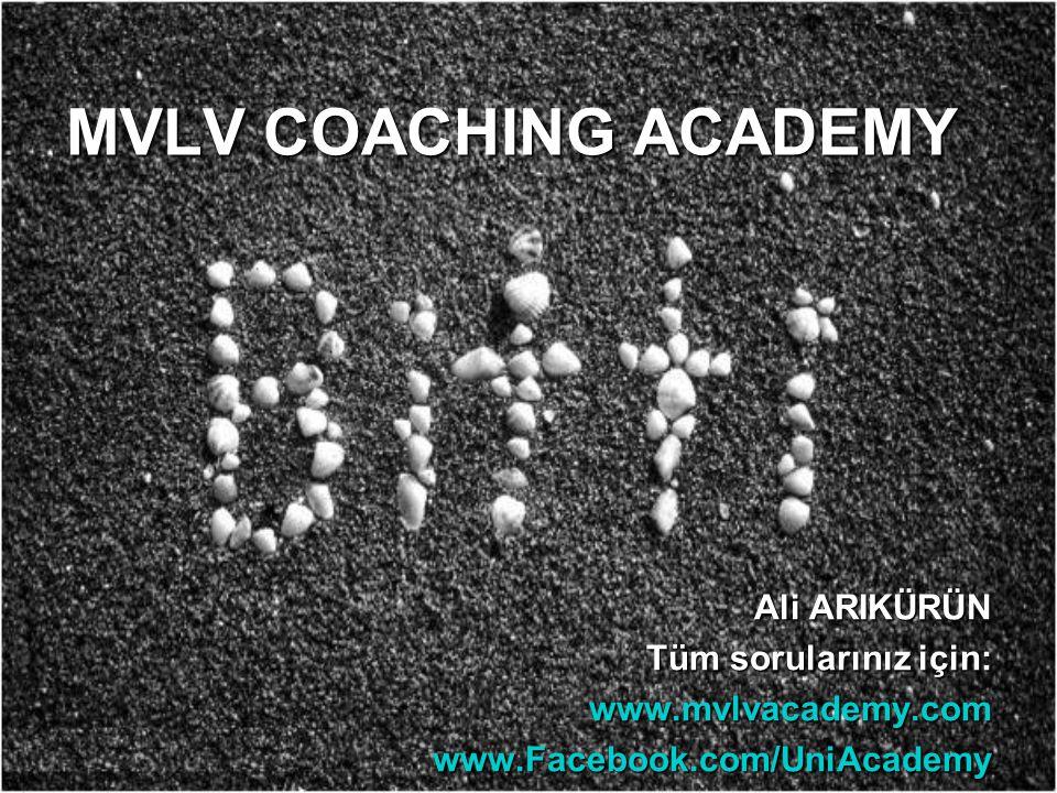 MVLV COACHING ACADEMY Ali ARIKÜRÜN Tüm sorularınız için: www.mvlvacademy.comwww.Facebook.com/UniAcademy