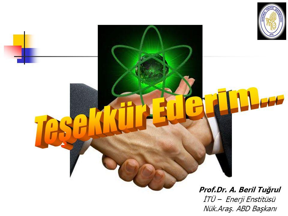 Prof.Dr. A. Beril Tuğrul İTÜ – Enerji Enstitüsü Nük.Araş. ABD Başkanı