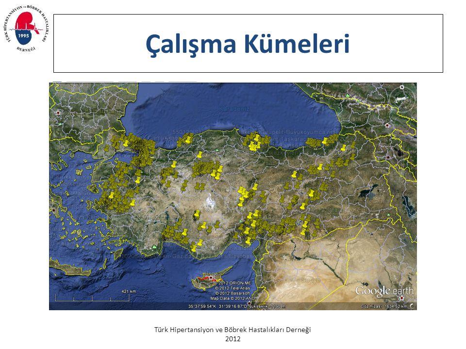 Türk Hipertansiyon ve Böbrek Hastalıkları Derneği 2012 Cinsiyet ve Yaş Gruplarında Hipertansiyon Prevalansı