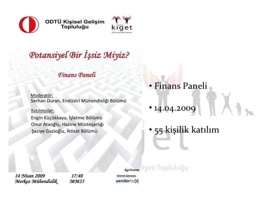 Finans Paneli 14.04.2009 55 kişilik katılım