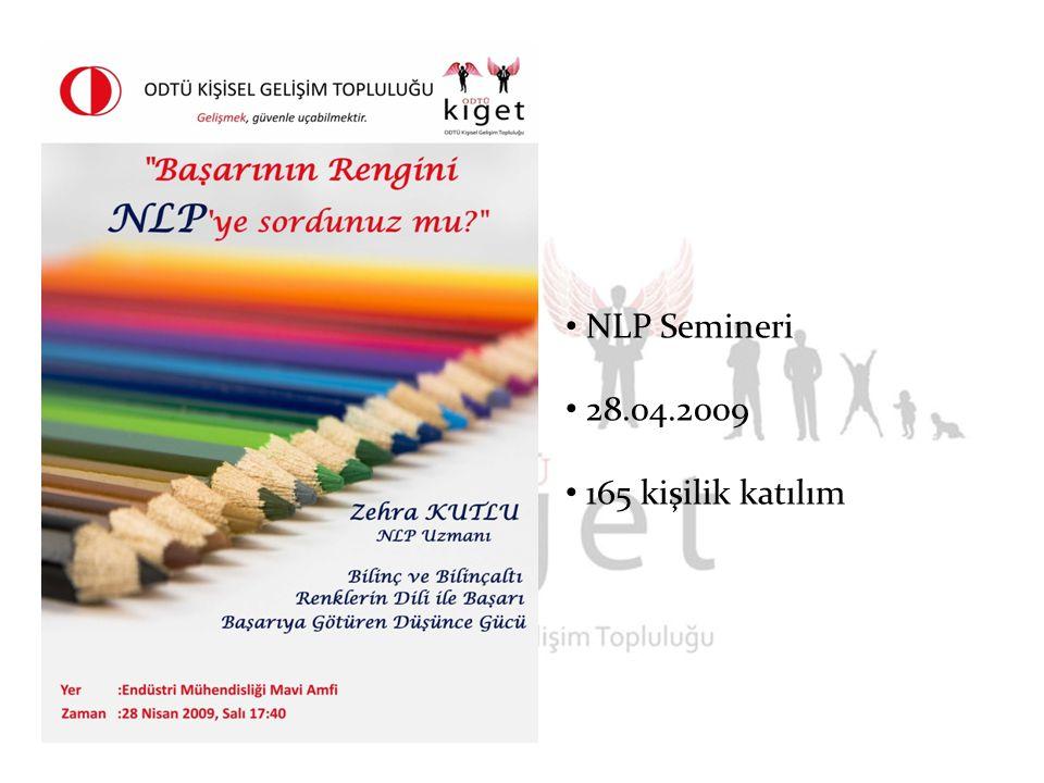 NLP Semineri 28.04.2009 165 kişilik katılım