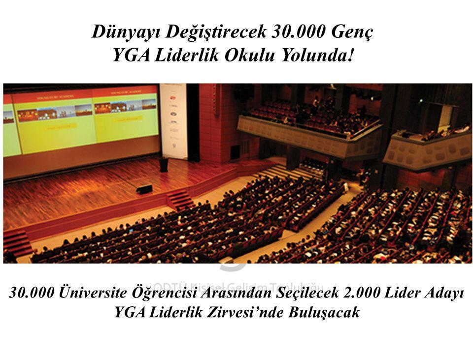 Dünyayı Değiştirecek 30.000 Genç YGA Liderlik Okulu Yolunda.