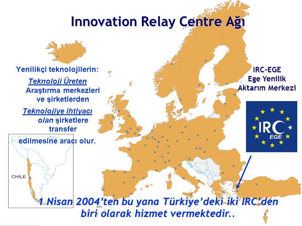 Innovation Relay Centre Ağı Yenilikçi teknolojilerin: Teknoloji Üreten Araştırma merkezleri ve şirketlerden Teknolojiye ihtiyacı olan şirketlere transfer edilmesine aracı olur.