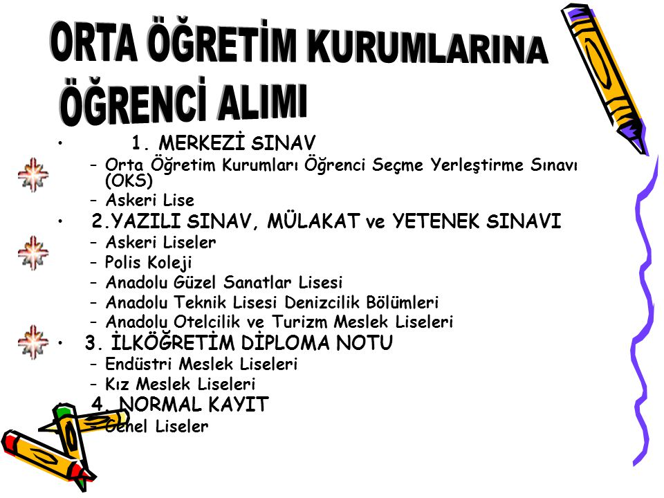 RESMİ - ÖZEL FEN LİSELERİ BAŞVURU ŞARTLARI 8.