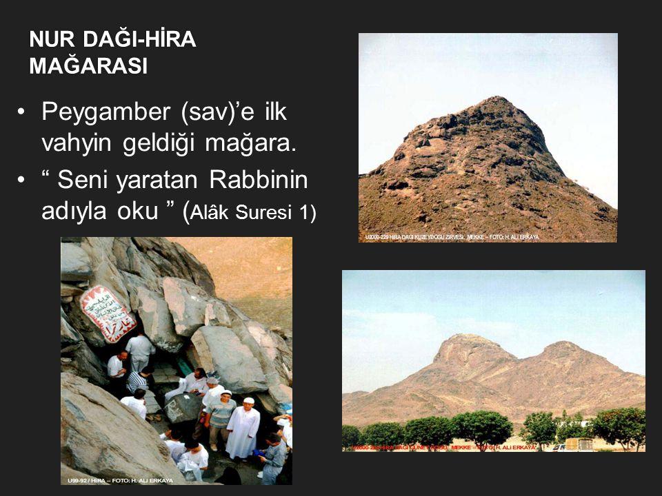 SEVR MAĞARASI  Peygamber (sav) Efendimizin Mekke' den Medine'ye hicret ederken Hz. Ebu Bekirle beraber gizlendiği mağara  Peygamber (sav) Efendimizi
