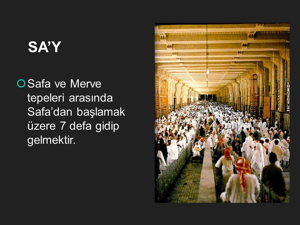 VAKFE  Arefe günü öğleden sonra bayramın birinci günü sabahına kadar bu zaman içerisinde belli bir vakit Arafat'ta kalmaktır. AArefe günü öğleden s