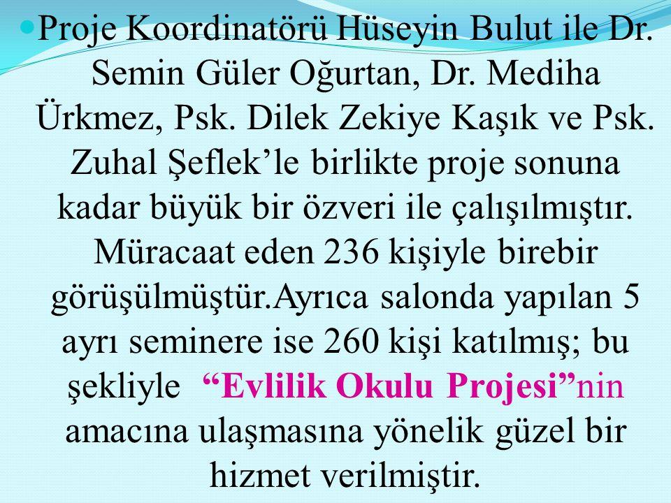 Proje Koordinatörü Hüseyin Bulut ile Dr.Semin Güler Oğurtan, Dr.