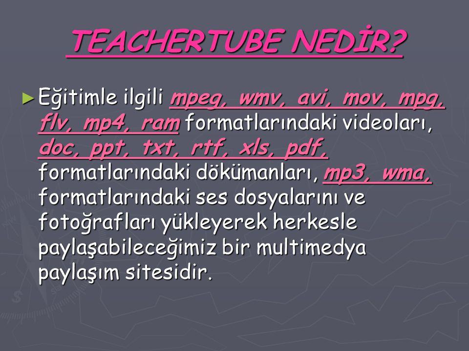 TEACHERTUBE NEDİR.