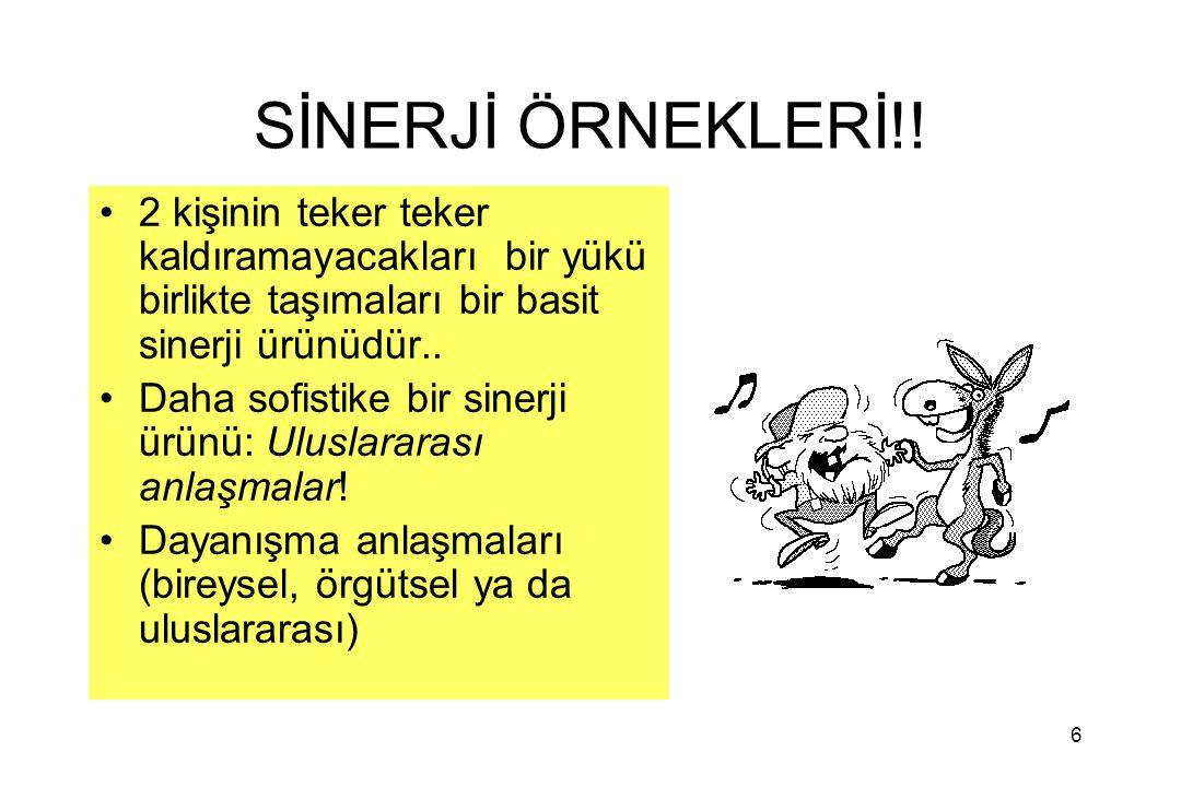 6 SİNERJİ ÖRNEKLERİ!.