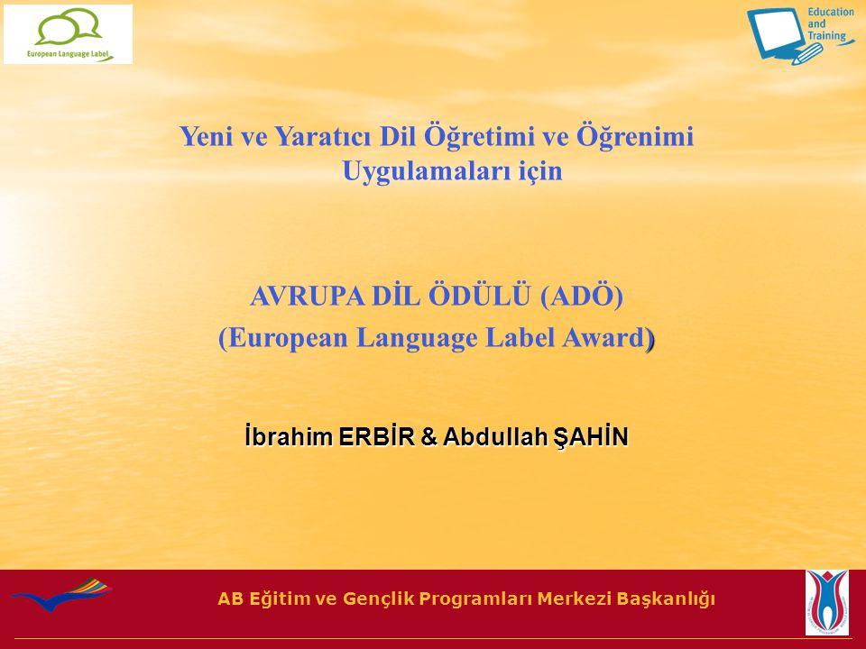 AB Eğitim ve Gençlik Programları Merkezi Başkanlığı 1.