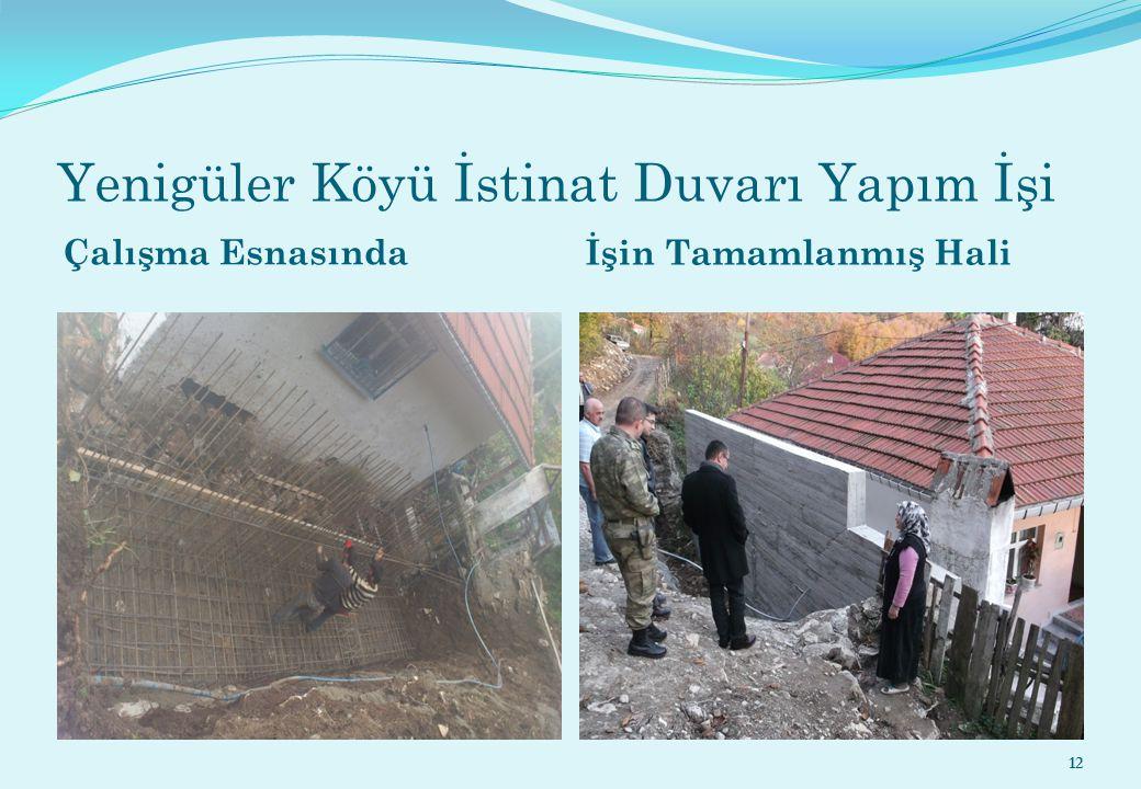 Yenigüler Köyü İstinat Duvarı Yapım İşi Çalışma Esnasında İşin Tamamlanmış Hali 12