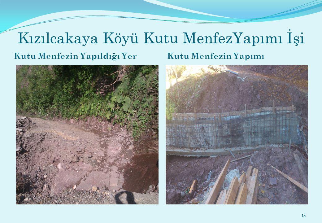 Kızılcakaya Köyü Kutu MenfezYapımı İşi Kutu Menfezin Yapıldığı Yer Kutu Menfezin Yapımı 13