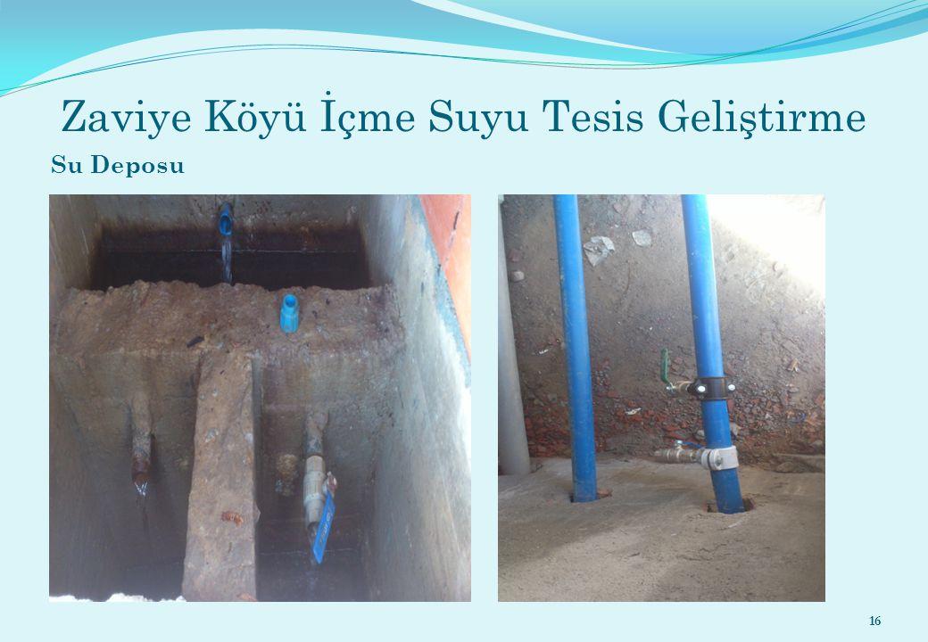 Zaviye Köyü İçme Suyu Tesis Geliştirme Su Deposu 16