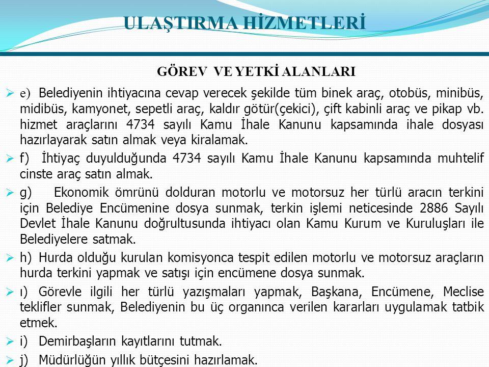 ULAŞTIRMA HİZMETLERİ  İDAREYE İLİŞKİN BİLGİLER  1- İdarenin Yeri:  Ulaşım Hizmetleri Müdürlüğünün ana bölümü olan Müdürlük birimimiz, tamirhane, depo ve benzinlik belediyemizin Alibeyköy Mah.