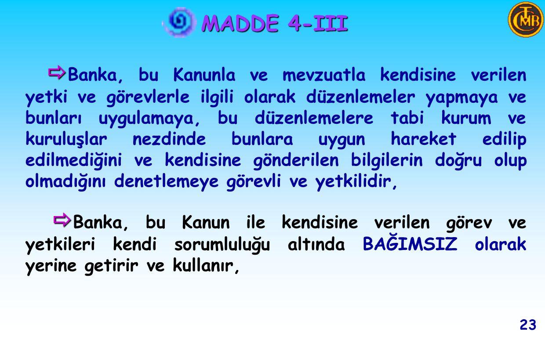 MADDE 4-III MADDE 4-III 22