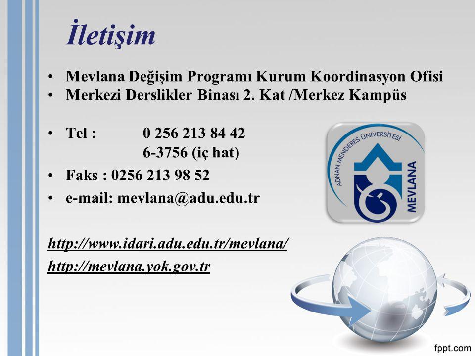 Mevlana Değişim Programı Kurum Koordinasyon Ofisi Merkezi Derslikler Binası 2.