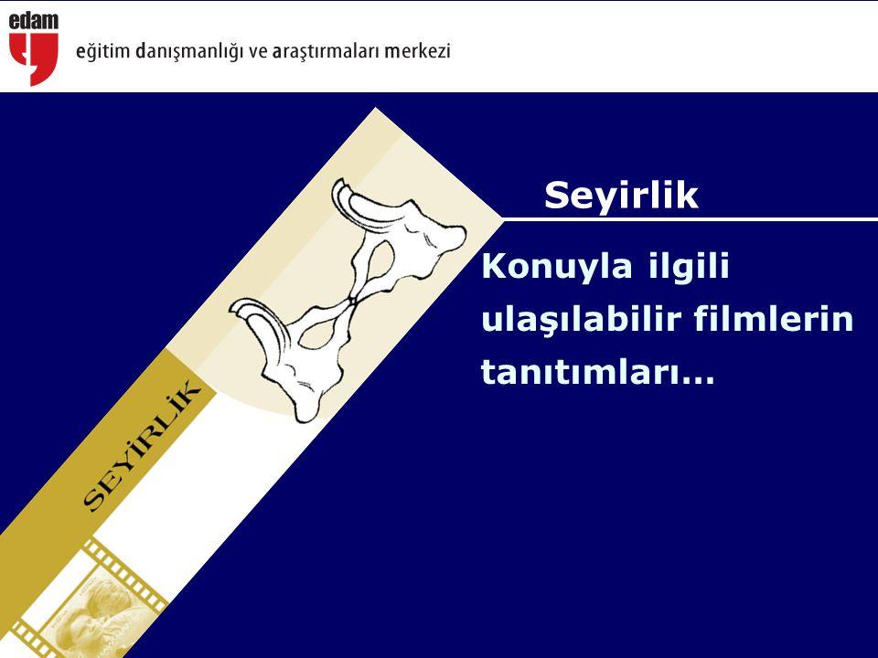 Konuyla ilgili ulaşılabilir filmlerin tanıtımları… Seyirlik
