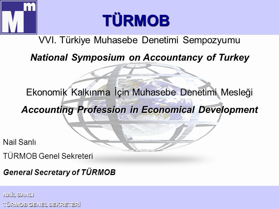 TÜRMOB NAİL SANLI TÜRMOB GENEL SEKRETERİ VVI. Türkiye Muhasebe Denetimi Sempozyumu National Symposium on Accountancy of Turkey Ekonomik Kalkınma İçin