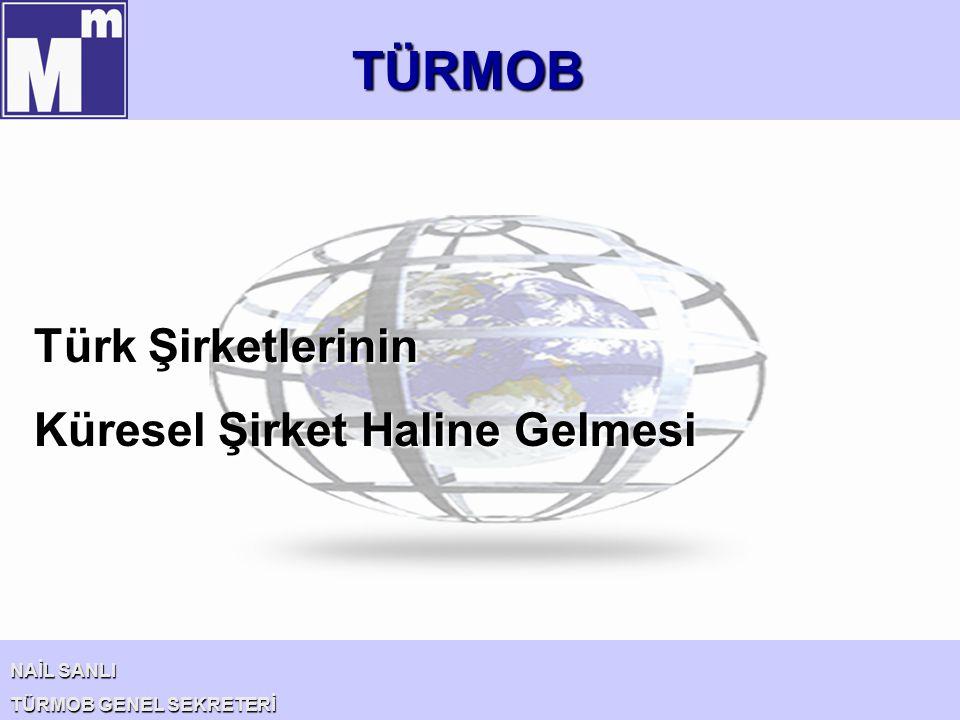 TÜRMOB NAİL SANLI TÜRMOB GENEL SEKRETERİ Türk Şirketlerinin Küresel Şirket Haline Gelmesi