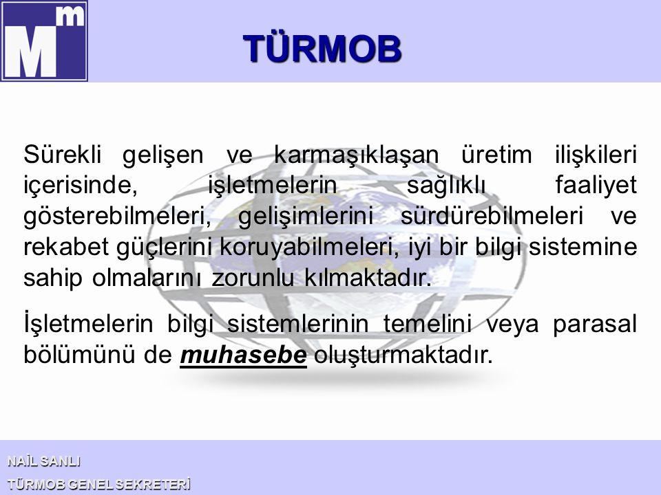 TÜRMOB NAİL SANLI TÜRMOB GENEL SEKRETERİ Ekonomik kalkınma için; 1- Yabancı yatırımlar 2- KOBİ' lerin güçlendirilmesi 3- Türk şirketlerinin küresel şirket haline gelmesi Büyük önem taşımaktadır.