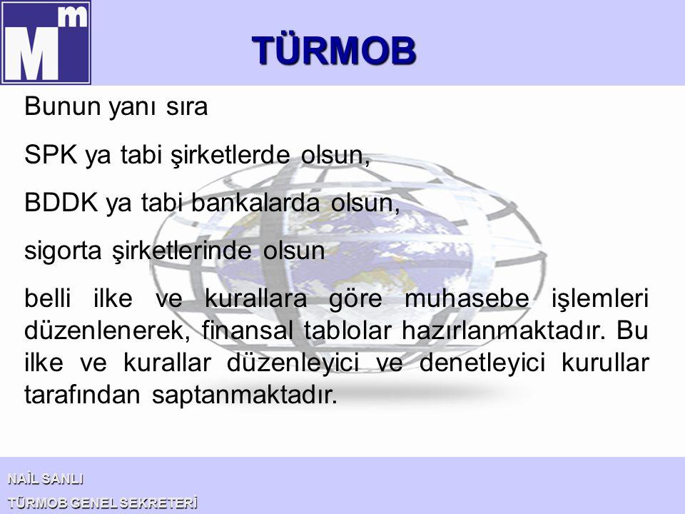 TÜRMOB NAİL SANLI TÜRMOB GENEL SEKRETERİ Çok uluslu bir şirket olmaya karar veren bir Türk işletmesi, yurt dışına açılmadan önce organizasyon ve muhasebe alanında bir el kitabı oluşturmalıdır.