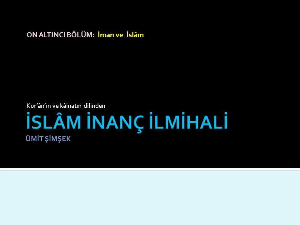 ON ALTINCI BÖLÜM: İman ve İslâm Kur'ân'ın ve kâinatın dilinden