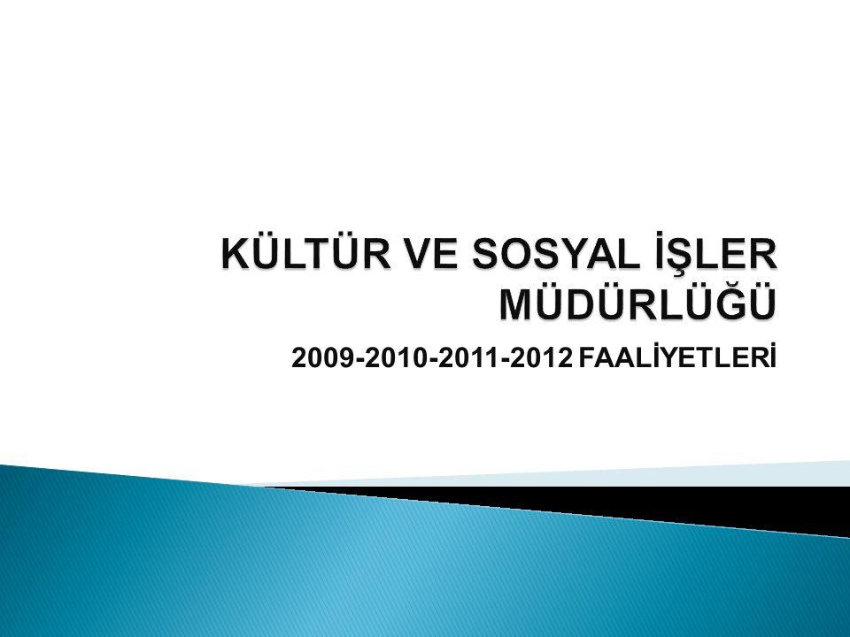 2009-2010-2011-2012 FAALİYETLERİ